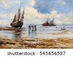 sea landscape  paintings oil ... | Shutterstock . vector #545656537