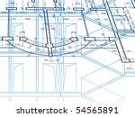 building background. plan of... | Shutterstock . vector #54565891