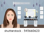 hair salon design with...