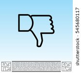 vector hand with thumb down icon   Shutterstock .eps vector #545680117