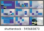 blue and purple elements for... | Shutterstock .eps vector #545683873