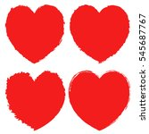 hearts icons set  red hand... | Shutterstock .eps vector #545687767