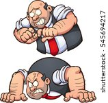 angry man in two different... | Shutterstock .eps vector #545694217