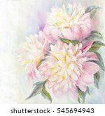 pink and white peony background....   Shutterstock . vector #545694943