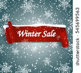 winter sale background with red ... | Shutterstock .eps vector #545699563