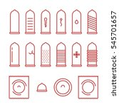 condom types minimal flat line... | Shutterstock .eps vector #545701657