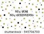 new year greeting card with... | Shutterstock .eps vector #545706703