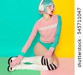 music and love. minimal fashion ... | Shutterstock . vector #545711047