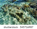 Clear Ocean Water Surface With...