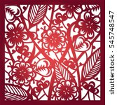 laser cut flower pattern for... | Shutterstock .eps vector #545748547