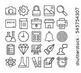 education vector icons 1 | Shutterstock .eps vector #545754307