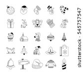 christmas hand drawn doodles 1 | Shutterstock .eps vector #545757547