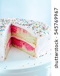 an ombre vanilla and pink... | Shutterstock . vector #545769967