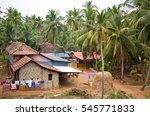 beautiful landscape of rural... | Shutterstock . vector #545771833