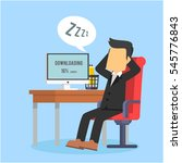 businessman fallen asleep while ... | Shutterstock .eps vector #545776843