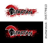spartan text designed with... | Shutterstock .eps vector #545779813