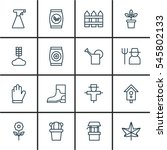 set of 16 gardening icons.... | Shutterstock .eps vector #545802133
