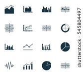 set of graphs  diagrams and... | Shutterstock .eps vector #545804497