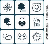 set of 9 eco icons. includes... | Shutterstock .eps vector #545804503