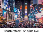 new york city   dec 3  times... | Shutterstock . vector #545805163