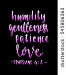 humility  gentleness patience ... | Shutterstock .eps vector #545806363