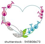 heart shaped frame with... | Shutterstock .eps vector #545808673