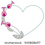 heart shaped frame with... | Shutterstock .eps vector #545808697
