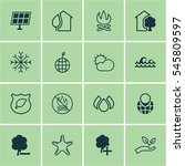 set of 16 eco icons. includes... | Shutterstock . vector #545809597