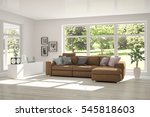 white room with sofa and green... | Shutterstock . vector #545818603