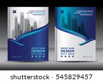 brochure template layout  blue... | Shutterstock .eps vector #545829457