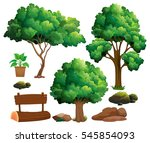 tree element set on white | Shutterstock .eps vector #545854093
