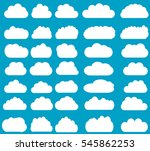 cloud vector icons isolated... | Shutterstock .eps vector #545862253