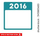 2016 year calendar template...   Shutterstock .eps vector #545885683