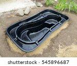 preformed plastic pond insert... | Shutterstock . vector #545896687
