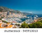 monaco  monte carlo cityscape.... | Shutterstock . vector #545913013