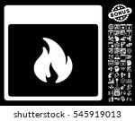 fire calendar page pictograph... | Shutterstock . vector #545919013