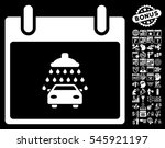 car shower calendar day... | Shutterstock . vector #545921197