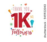 thank you design template for... | Shutterstock .eps vector #545922043