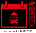 car shower calendar day... | Shutterstock . vector #545928103