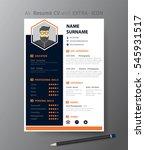 clean modern design template of ... | Shutterstock .eps vector #545931517