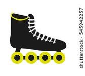 skate sport equipment icon... | Shutterstock .eps vector #545942257