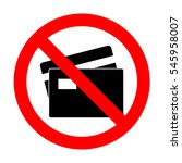 no credit card sign.  | Shutterstock .eps vector #545958007