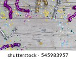 carnival confetti on wood... | Shutterstock . vector #545983957