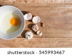 Chicken Eggs In A Bowl On A...