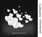 valentines day love card with... | Shutterstock .eps vector #545998573