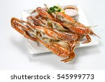 roasted blue swimmer crab ... | Shutterstock . vector #545999773