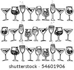 a picture of  glasses with... | Shutterstock . vector #54601906