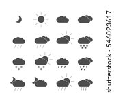 set with weather icons | Shutterstock .eps vector #546023617