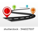 road map with markers | Shutterstock .eps vector #546027037