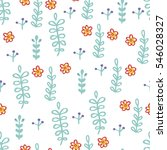 seamless pattern with leaves....   Shutterstock .eps vector #546028327